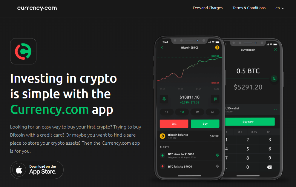 Currency.com Buy Bitcoin