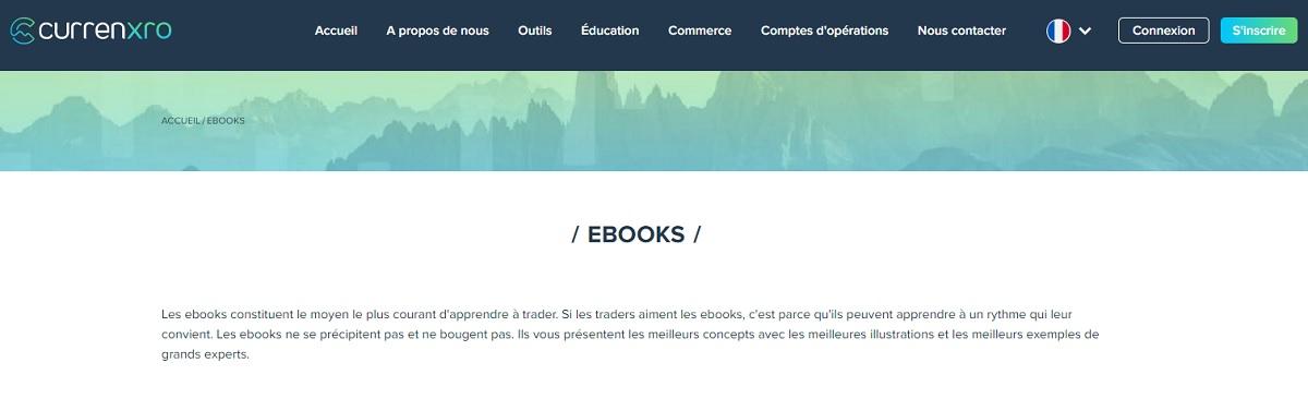 Des livres électroniques pour apprendre Currenxro