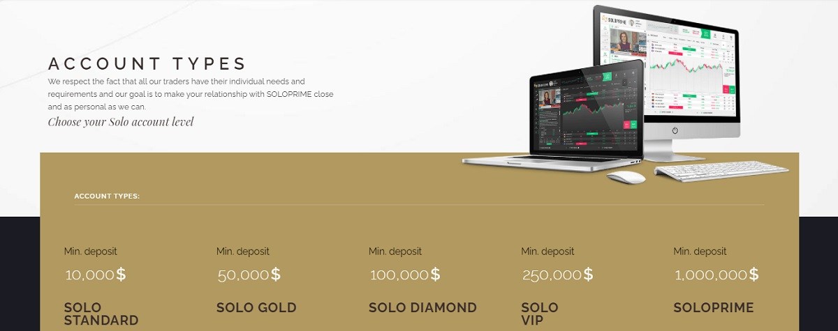 SoloPrime trading accounts