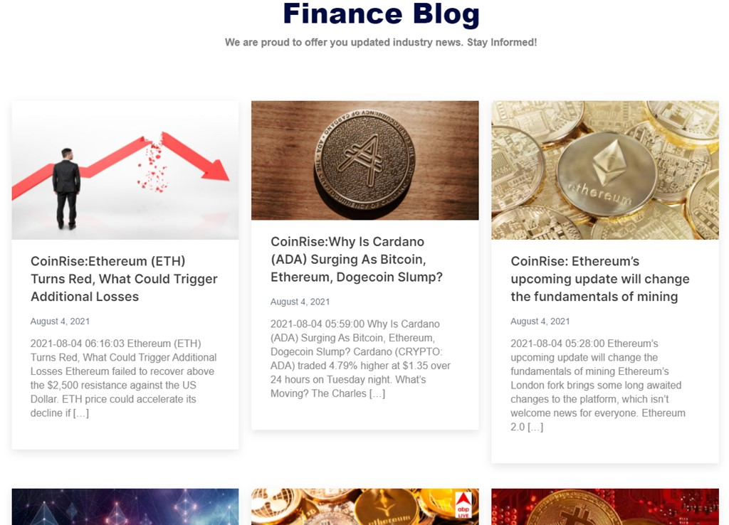 Coinrise news section