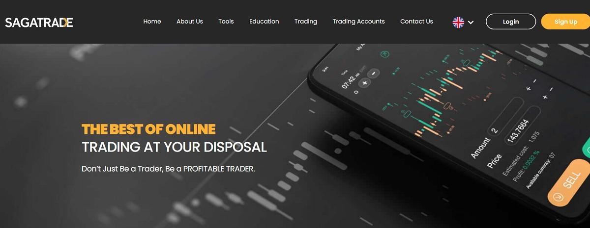 SagaTrade home page