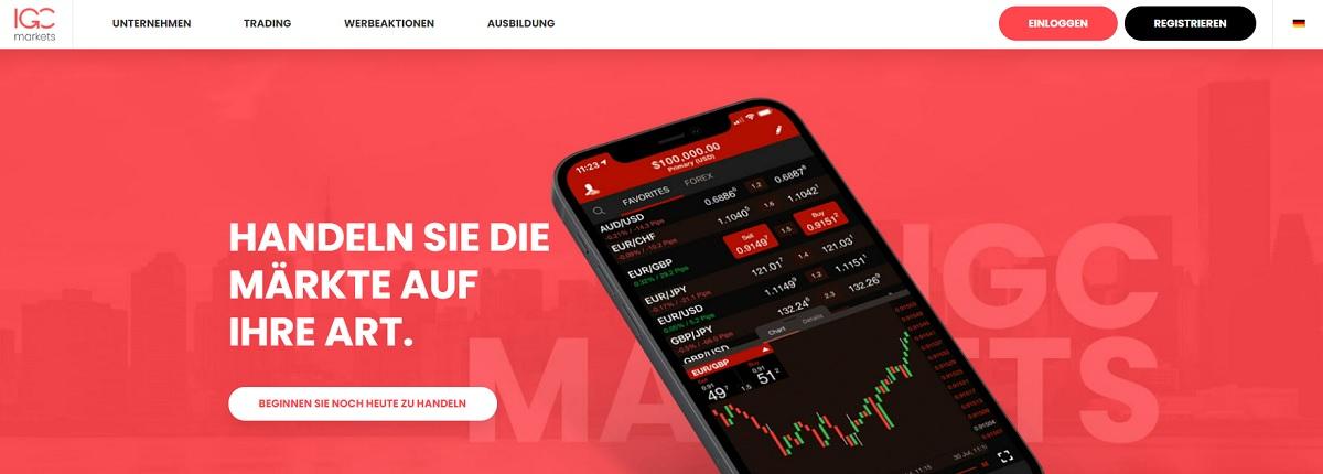 IGC Markets Startseite