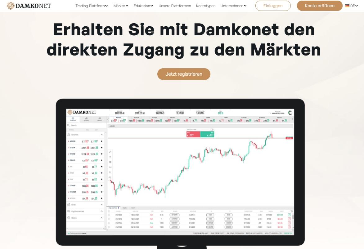 Startseite DAMKONET