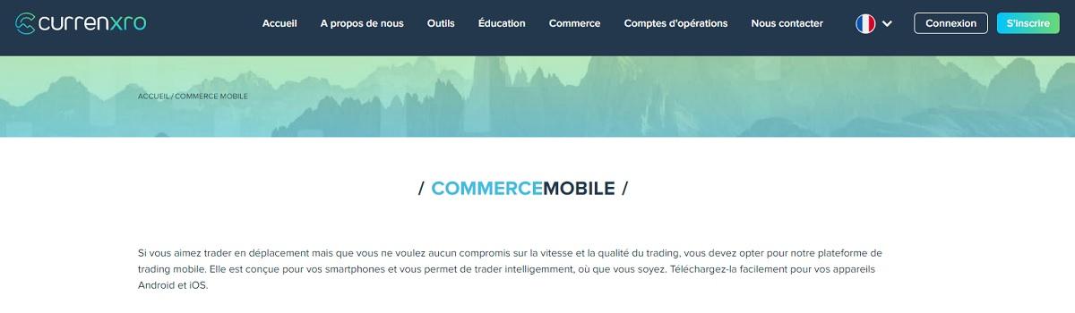 Le commerce sur le Web et les mobiles Currenxro