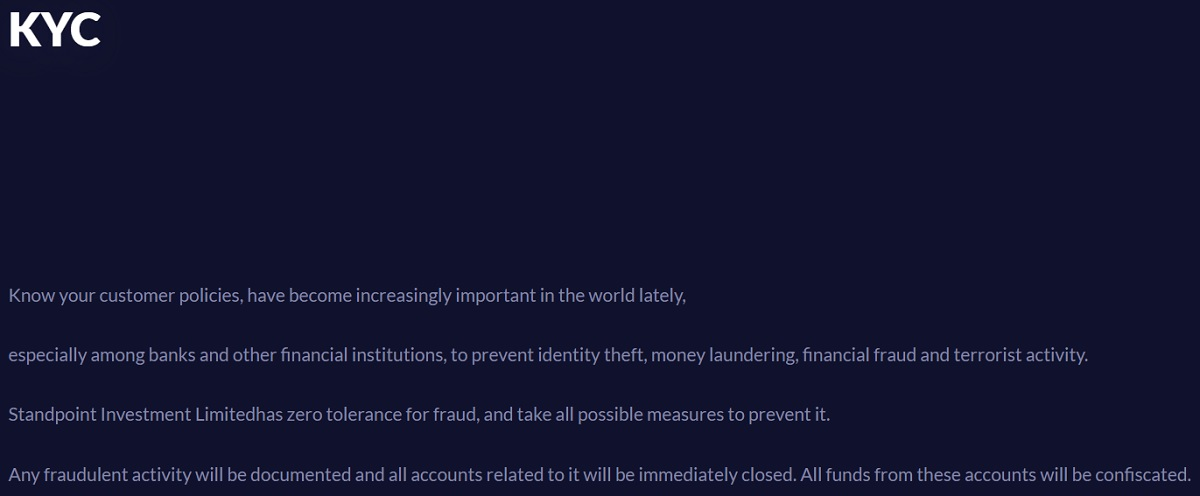 Standpoint Finance security kyc