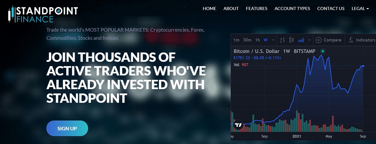 Standpoint Finance home page
